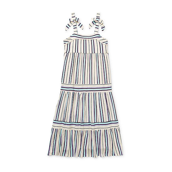 Lilt Little & Big Girls Sleeveless Striped Maxi Dress