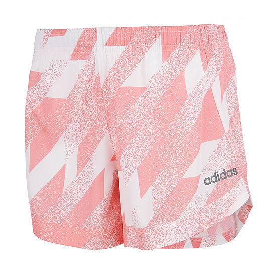 adidas Big Girls Mid Rise Workout Shorts