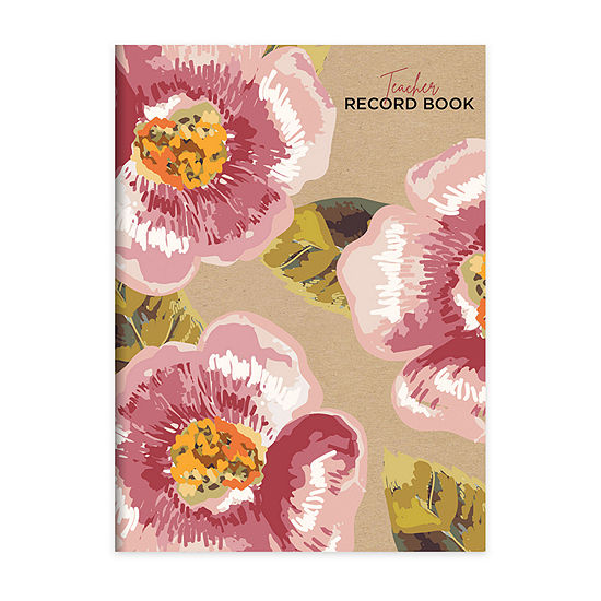"Tf Publishing Floral Kraft Botanical 7.5"" X 10.25"" Teacher Record Grade Book"