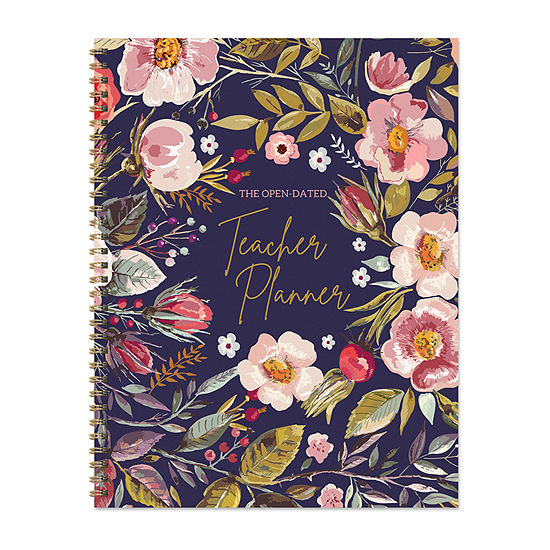 """Tf Publishing Large Botanical Floral Undated 8.5"""" X 11"""" Weekly Teacher Planner Lesson Plan Book"""