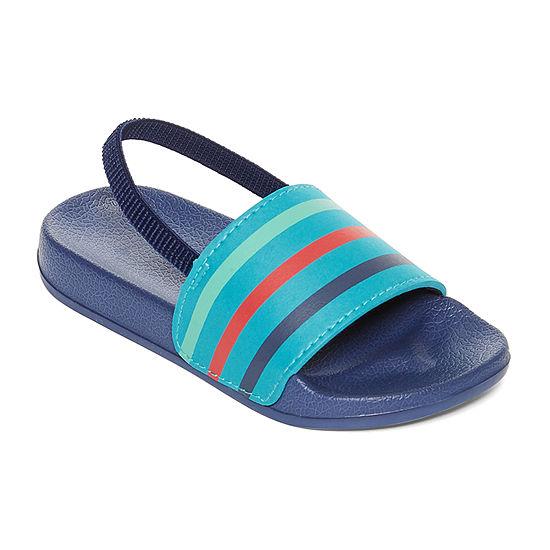 Okie Dokie Toddler Boys Slide Sandals