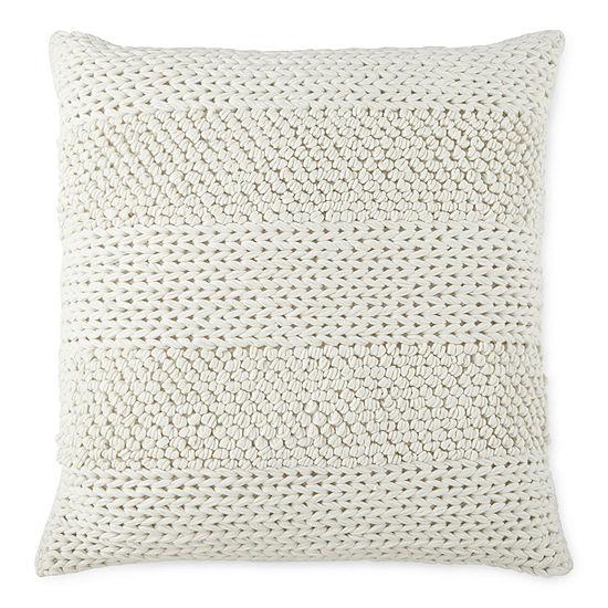 Linden Street Nubby Textured Square Throw Pillow