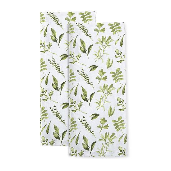 Farmer's Market Herbs 2-pc. Kitchen Towel Set
