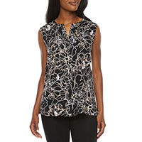 Liz Claiborne Womens Crew Neck Sleeveless Tunic Top Deals