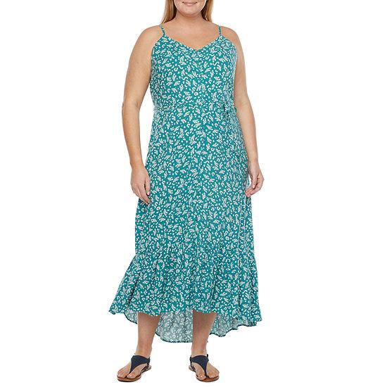 a.n.a Plus Sleeveless Floral High-Low Maxi Dress