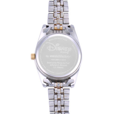 Disney Status Womens Winnie the Pooh Two-Tone Metal Bracelet Watch
