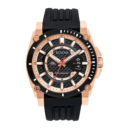 Bulova Precisionist Mens Black Strap Watch-98b152