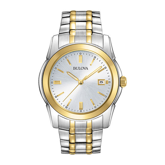 c7d5820a4a4d Bulova Mens Two Tone Stainless Steel Watch 98H18 JCPenney
