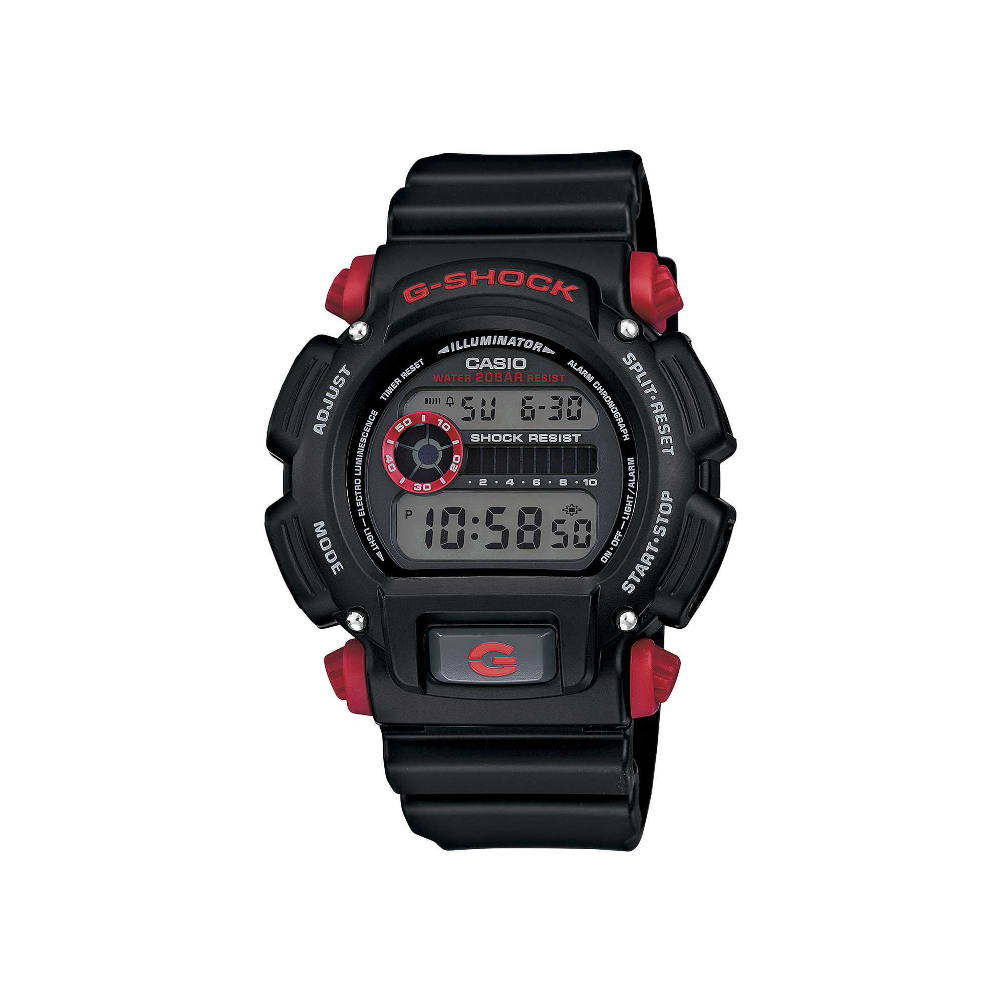 Casio G-Shock Mens Black Resin Strap Sport Watch DW9052-1C4CR