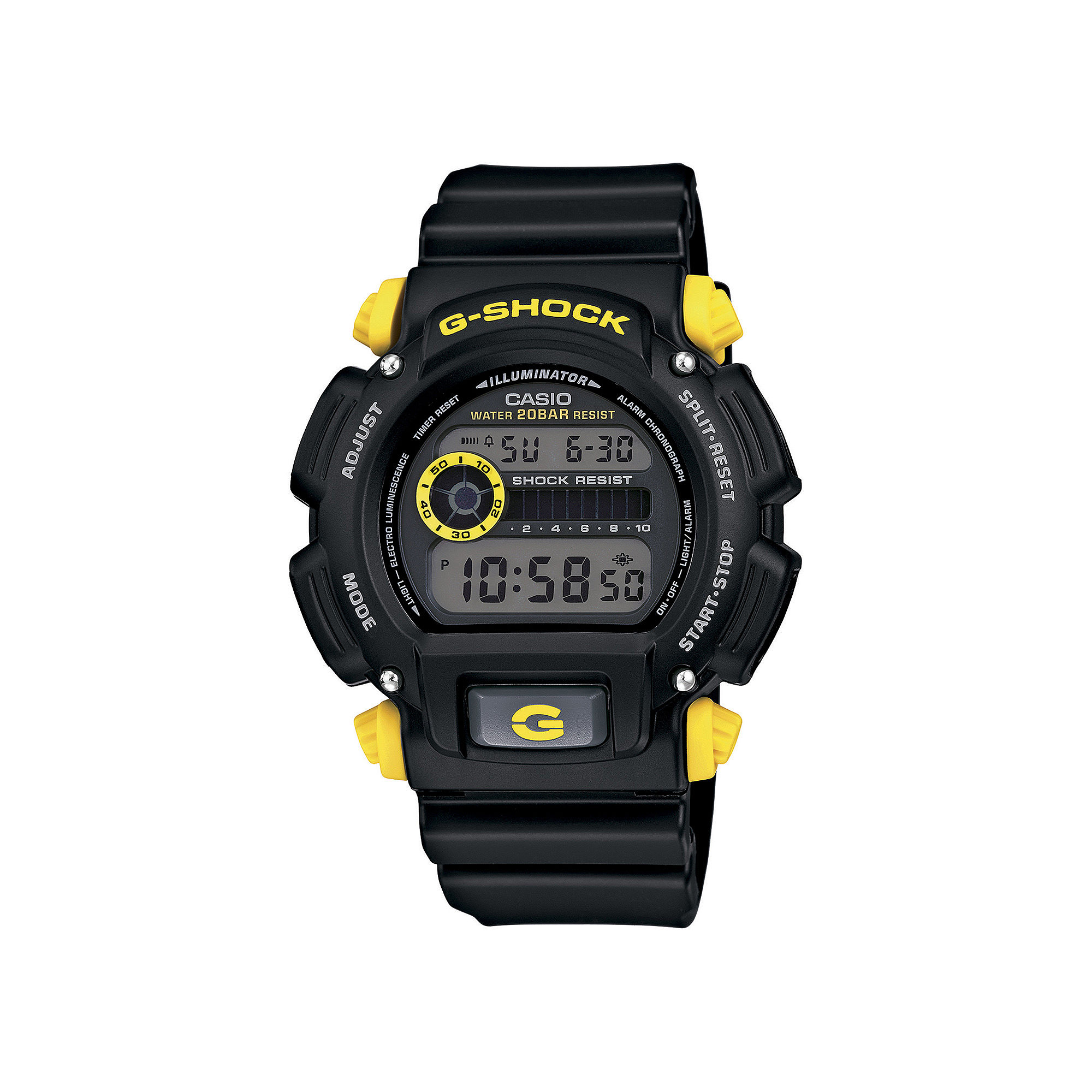 Casio G-Shock Mens Black Resin Strap Sport Watch DW9052-1C9CR