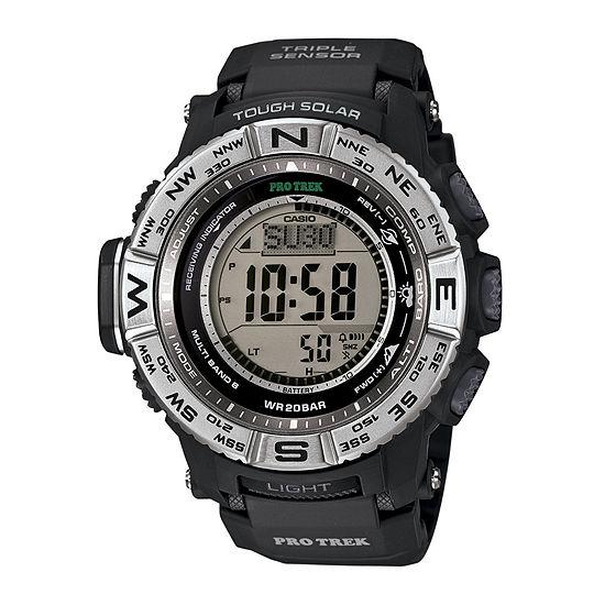 Casio Pro Trek Mens Black Strap Watch-Prw3500-1cr