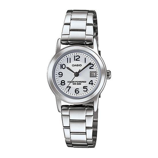 Casio Womens Silver Tone Stainless Steel Bracelet Watch-Ltps100d-7bvcf