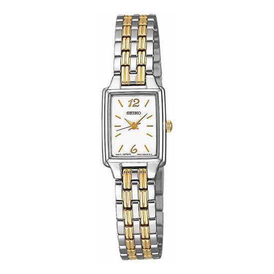 Seiko® Womens Two Tone Quartz Dress Watch SXGL59