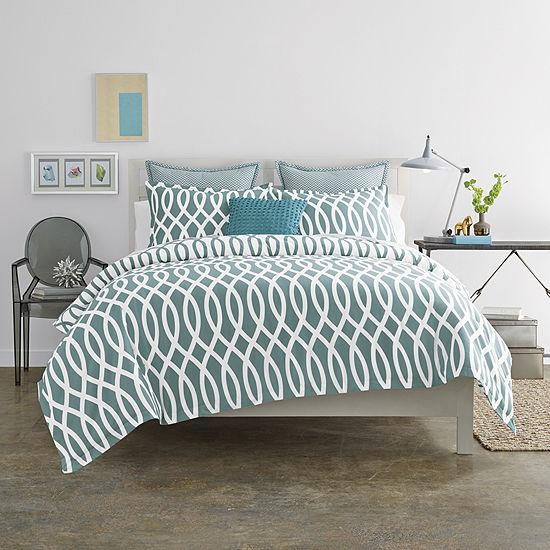 Jcpenney Home Cotton Classics Borderline Reversible Comforter