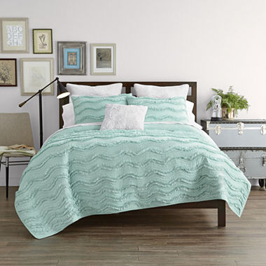 JCPenney Home Cotton Classic Ruffle Quilt & Accessories : jcpenney quilts on sale - Adamdwight.com
