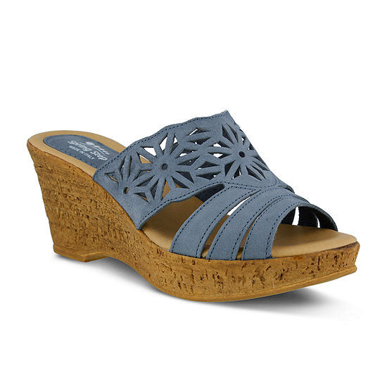 Spring Step Dora Slide Wedge Sandals