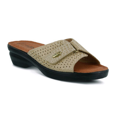 Flexus Carrie Leather Slide Sandals