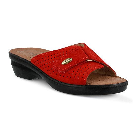 Flexus Kea Leather Slide Sandals