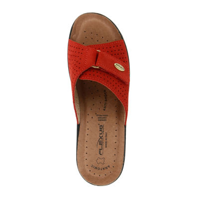 Flexus Kea Leather Slide Sandals
