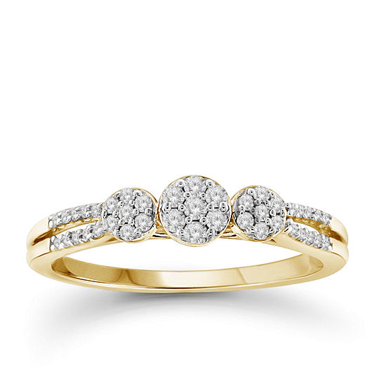 Diamond 10k Yellow Gold Ring