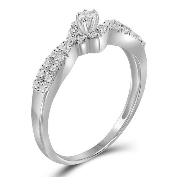 1/4 CT. T.W. Diamond 10K White Gold Ring