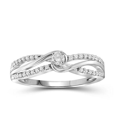 Diamond 10K White Gold Ring