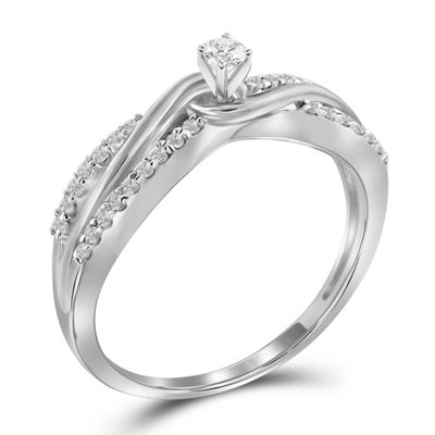 Diamond 10K White Gold Ring