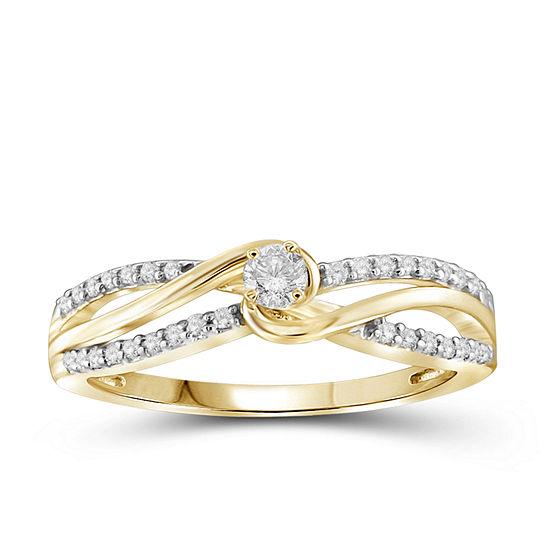 1/4 CT. T.W. Diamond 10K Yellow Gold Ring