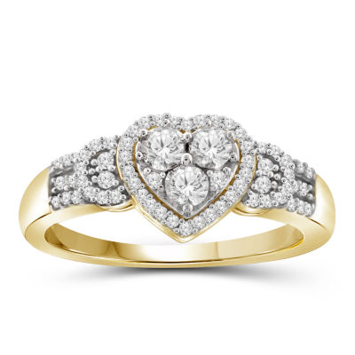 1/4 CT. T.W. Diamond 10K Yellow Gold Heart Ring