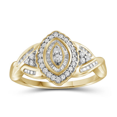1/2 CT. T.W. Diamond 10K Yellow Gold Marquise Ring