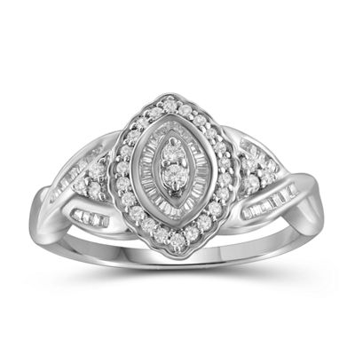 1/2 CT. T.W. Diamond 10K White Gold Marquise Ring