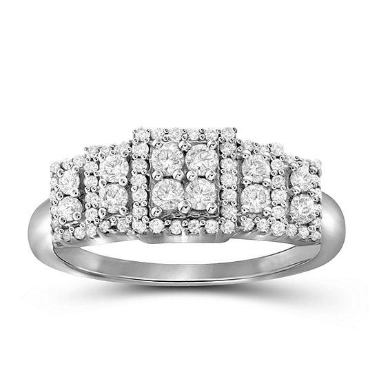 1/2 CT. T.W. 10K White Gold Diamond Ring