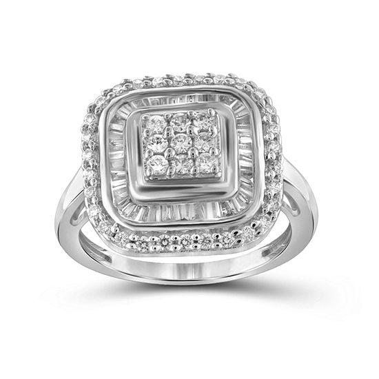 1 Ct Tw Diamond 10k White Gold Ring