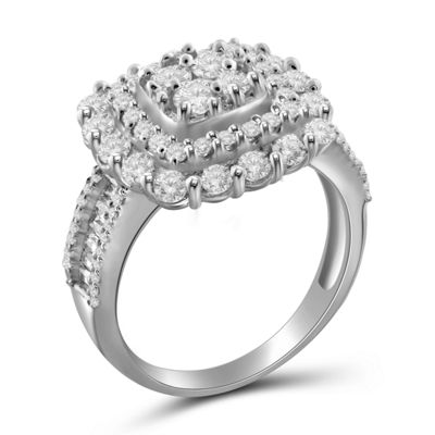 2 CT. T.W. Diamond 10K White Gold Ring
