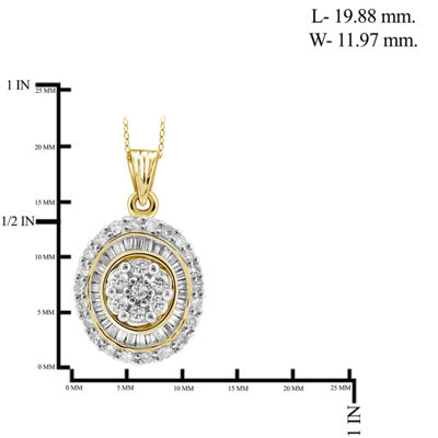 1/2 CT. T.W. Diamond 10K Yellow Gold Pendant