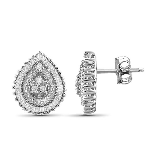 1 4 Ct Tw Diamond 10k White Gold Earrings