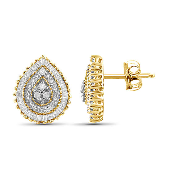 1/4 CT. T.W. Diamond 10K Yellow Gold Earrings