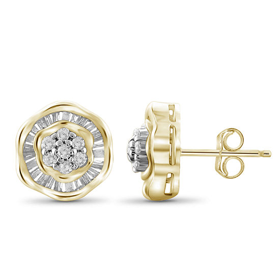 1/2 CT. T.W. Diamond 10K Yellow Gold Stud Earrings