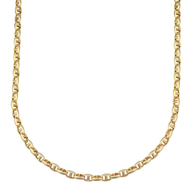 "Made in Italy 14K Yellow Gold 22"" Interlocking Chain"