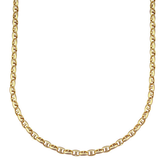 """14K Yellow Gold 22"""" Interlocking Chain"""