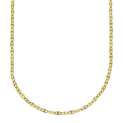 Made in Italy 10K Gold Hollow Link Chain
