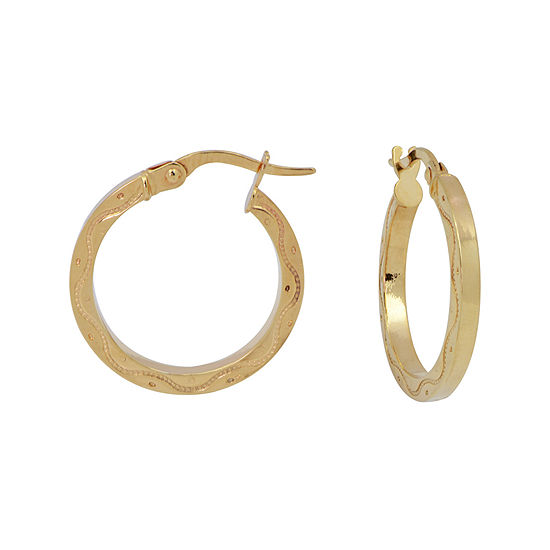 Made in Italy 14K Yellow Gold Diamond-Cut 20mm Hoop Earrings