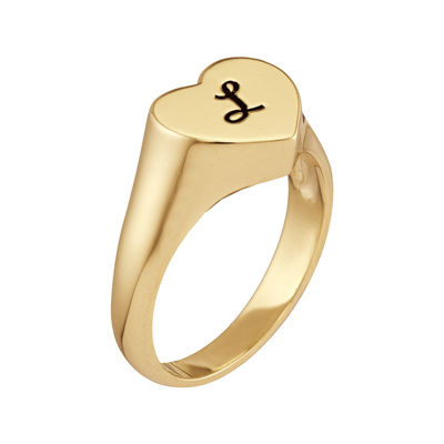 Personalized Initial Heart Ring