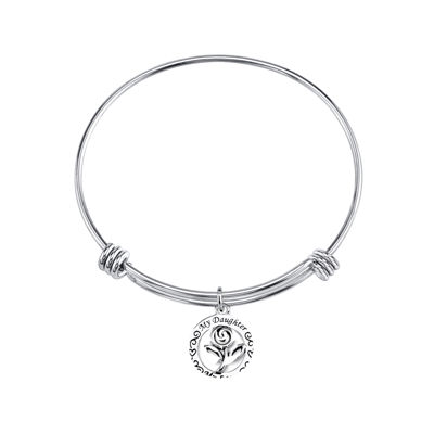 "Inspired Moments™ Sterling Silver Bangle ""My Daughter, My Love"""