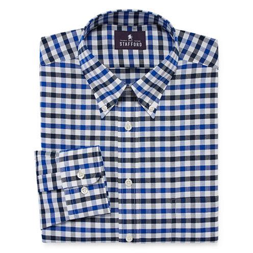 Stafford® Travel Wrinkle-Free Oxford Dress Shirt - Big & Tall
