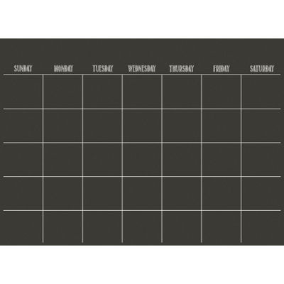WallPops Black Matte Monthly Calendar Decal