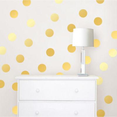 WallPops Gold Confetti Dots- Set of 128