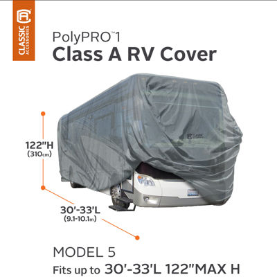 Classic Accessories 80-163-181001-00 PolyPro I Class A RV Cover, Model 5