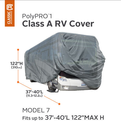 Classic Accessories 80-165-201001-00 PolyPro I Class A RV Cover, Model 7