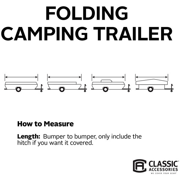 Classic Accessories 74303 PolyPro I Folding Camping Trailer Cover, Model 2
